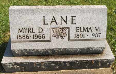 LANE, MYRL D. - Trumbull County, Ohio | MYRL D. LANE - Ohio Gravestone Photos