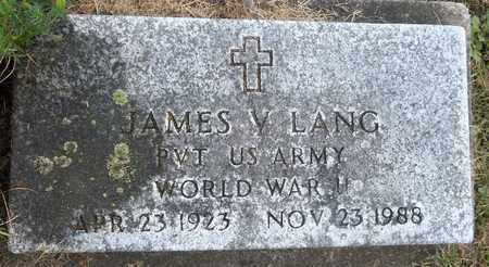 LANG, JAMES V. - Trumbull County, Ohio | JAMES V. LANG - Ohio Gravestone Photos