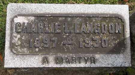 LANGDON, CHARLIE L. - Trumbull County, Ohio | CHARLIE L. LANGDON - Ohio Gravestone Photos