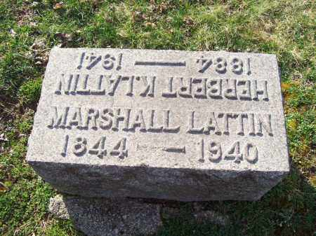 LATTIN, MARSHALL - Trumbull County, Ohio | MARSHALL LATTIN - Ohio Gravestone Photos