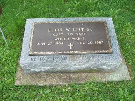 LIST, ELLIS W., SR. - Trumbull County, Ohio | ELLIS W., SR. LIST - Ohio Gravestone Photos