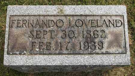 LOVELAND, FERNANDO - Trumbull County, Ohio | FERNANDO LOVELAND - Ohio Gravestone Photos