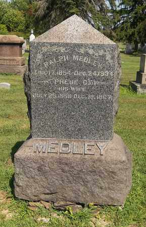 MEDLEY, PHEBE C. - Trumbull County, Ohio | PHEBE C. MEDLEY - Ohio Gravestone Photos