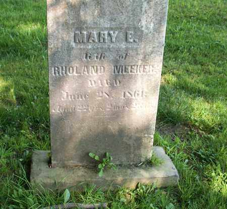 MEEKER, MARY E. - Trumbull County, Ohio | MARY E. MEEKER - Ohio Gravestone Photos