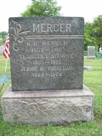 MERCER, HILL D. - Trumbull County, Ohio | HILL D. MERCER - Ohio Gravestone Photos