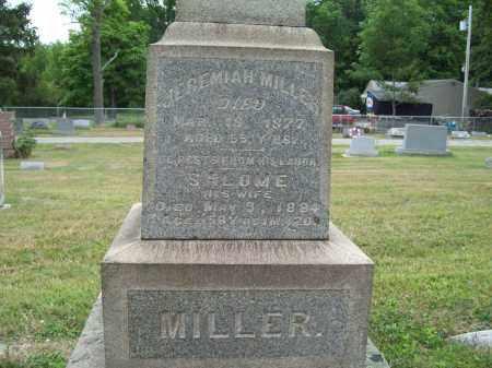 MILLER, SALOME - Trumbull County, Ohio | SALOME MILLER - Ohio Gravestone Photos