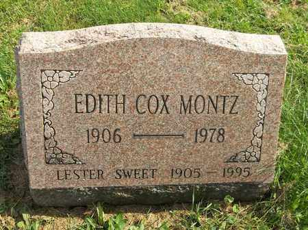 COX MONTZ, EDITH - Trumbull County, Ohio | EDITH COX MONTZ - Ohio Gravestone Photos