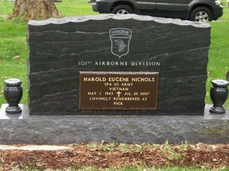 NICHOLS, HAROLD EUGENE - Trumbull County, Ohio | HAROLD EUGENE NICHOLS - Ohio Gravestone Photos