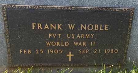 NOBLE, FRANK W. - Trumbull County, Ohio | FRANK W. NOBLE - Ohio Gravestone Photos