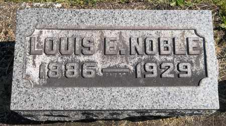 NOBLE, LOUIS E. - Trumbull County, Ohio | LOUIS E. NOBLE - Ohio Gravestone Photos