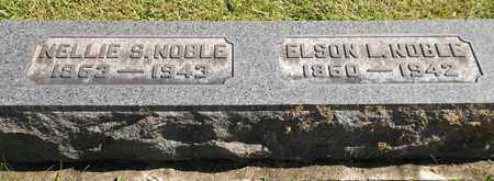 NOBLE, ELSON L. - Trumbull County, Ohio | ELSON L. NOBLE - Ohio Gravestone Photos