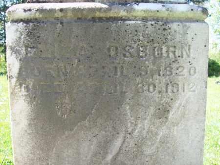 OSBORN, ELIZA - Trumbull County, Ohio | ELIZA OSBORN - Ohio Gravestone Photos