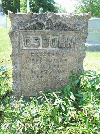 OSBORN, PRESTON Z. - Trumbull County, Ohio | PRESTON Z. OSBORN - Ohio Gravestone Photos
