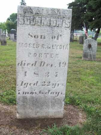 PORTER, SOLOMON S. - Trumbull County, Ohio | SOLOMON S. PORTER - Ohio Gravestone Photos