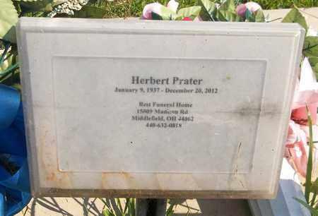 PRATER, HERBERT - Trumbull County, Ohio | HERBERT PRATER - Ohio Gravestone Photos