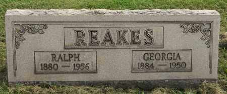 REAKES, GEORGIA - Trumbull County, Ohio | GEORGIA REAKES - Ohio Gravestone Photos