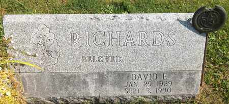 RICHARDS, DAVID E. - Trumbull County, Ohio | DAVID E. RICHARDS - Ohio Gravestone Photos