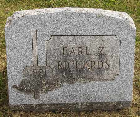RICHARDS, EARL Z. - Trumbull County, Ohio | EARL Z. RICHARDS - Ohio Gravestone Photos