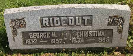 RIDEOUT, CHRISTINA - Trumbull County, Ohio | CHRISTINA RIDEOUT - Ohio Gravestone Photos