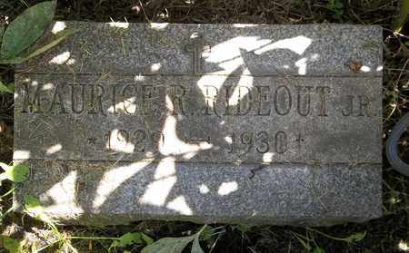 RIDEOUT, MAURICE R., JR. - Trumbull County, Ohio | MAURICE R., JR. RIDEOUT - Ohio Gravestone Photos