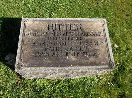 RITTER, HATTIE - Trumbull County, Ohio | HATTIE RITTER - Ohio Gravestone Photos