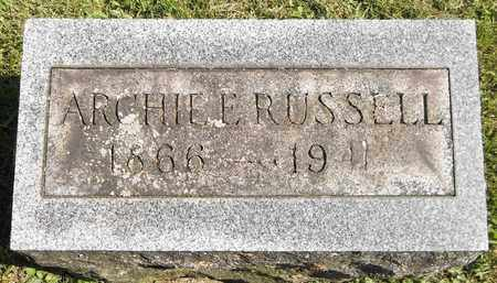 RUSSELL, ARCHIE E. - Trumbull County, Ohio | ARCHIE E. RUSSELL - Ohio Gravestone Photos