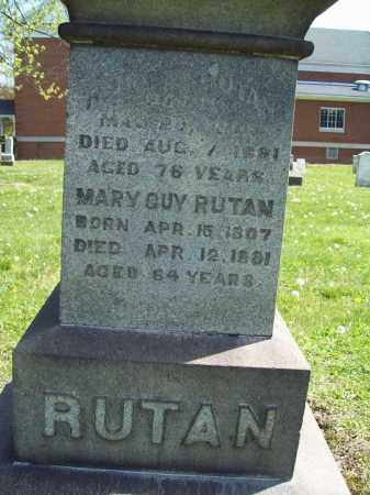 RUTAN, MARY - Trumbull County, Ohio | MARY RUTAN - Ohio Gravestone Photos
