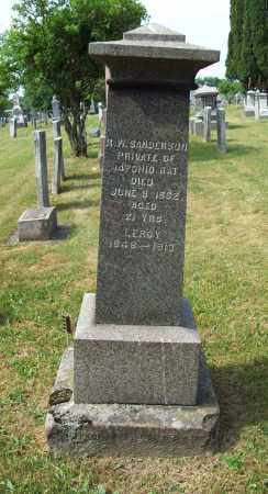 SANDERSON, LEROY S. - Trumbull County, Ohio | LEROY S. SANDERSON - Ohio Gravestone Photos