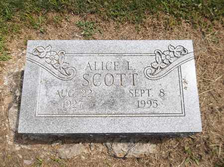 SCOTT, ALICE L. - Trumbull County, Ohio | ALICE L. SCOTT - Ohio Gravestone Photos