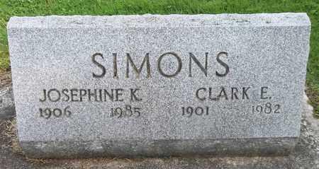 SIMONS, JOSEPHINE K. - Trumbull County, Ohio | JOSEPHINE K. SIMONS - Ohio Gravestone Photos