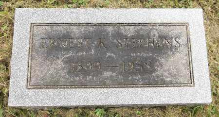 STEPHENS, ERNEST K. - Trumbull County, Ohio | ERNEST K. STEPHENS - Ohio Gravestone Photos