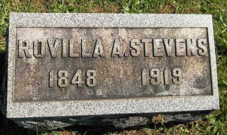 STEVENS, ROVILLA A. - Trumbull County, Ohio | ROVILLA A. STEVENS - Ohio Gravestone Photos