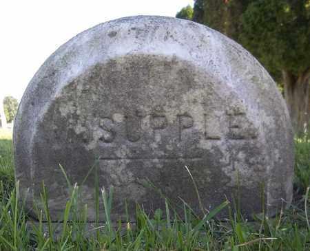 SUPPLE, WALTER - Trumbull County, Ohio | WALTER SUPPLE - Ohio Gravestone Photos