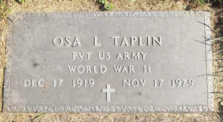 TAPLIN, OSA L. - Trumbull County, Ohio | OSA L. TAPLIN - Ohio Gravestone Photos