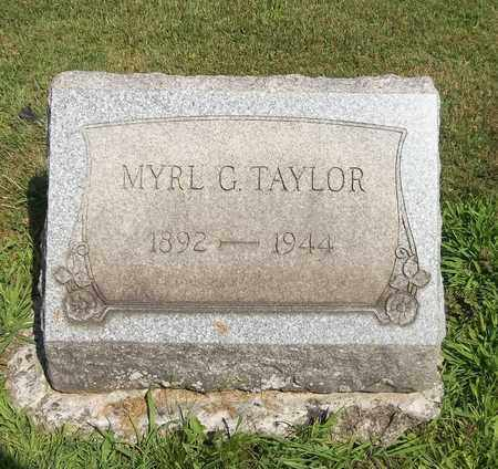 TAYLOR, MYRL G. - Trumbull County, Ohio | MYRL G. TAYLOR - Ohio Gravestone Photos