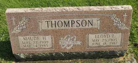 THOMPSON, MAUDE H. - Trumbull County, Ohio | MAUDE H. THOMPSON - Ohio Gravestone Photos