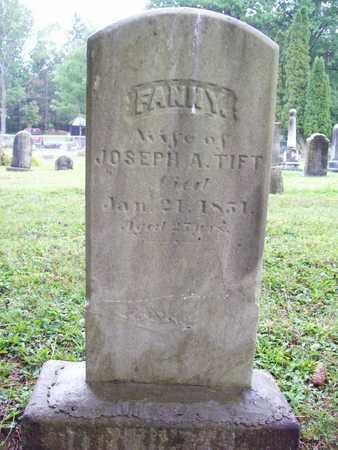 TIFT, FANNY - Trumbull County, Ohio | FANNY TIFT - Ohio Gravestone Photos