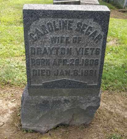 SEGAR VIETS, CAROLINE - Trumbull County, Ohio | CAROLINE SEGAR VIETS - Ohio Gravestone Photos