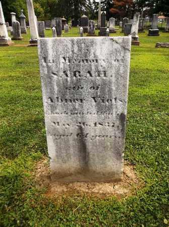 VIETS, SARAH - Trumbull County, Ohio | SARAH VIETS - Ohio Gravestone Photos