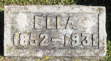 WANZER, ELLA - Trumbull County, Ohio | ELLA WANZER - Ohio Gravestone Photos