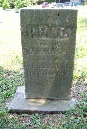 WEED, INFANT SON - Trumbull County, Ohio   INFANT SON WEED - Ohio Gravestone Photos
