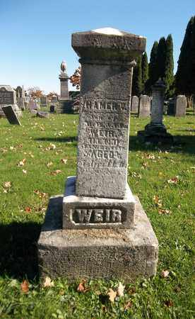 WEIR, HAMER V. - Trumbull County, Ohio | HAMER V. WEIR - Ohio Gravestone Photos