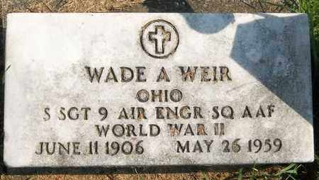 WEIR, WADE A. - Trumbull County, Ohio | WADE A. WEIR - Ohio Gravestone Photos