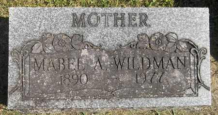 WILDMAN, MABEL A. - Trumbull County, Ohio | MABEL A. WILDMAN - Ohio Gravestone Photos