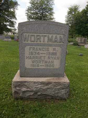 WORTMAN, FRANCIS R. - Trumbull County, Ohio | FRANCIS R. WORTMAN - Ohio Gravestone Photos