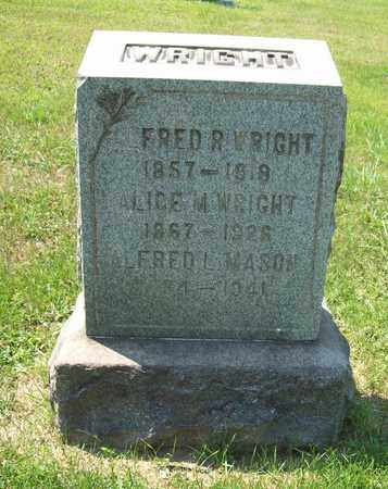 WRIGHT, ALICE M. - Trumbull County, Ohio | ALICE M. WRIGHT - Ohio Gravestone Photos
