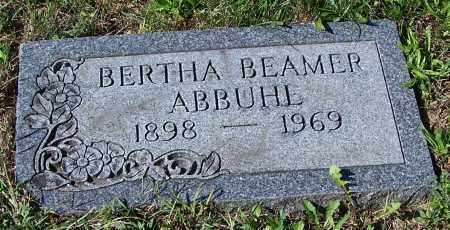 ABBUHL, BERTHA BEAMER - Tuscarawas County, Ohio | BERTHA BEAMER ABBUHL - Ohio Gravestone Photos