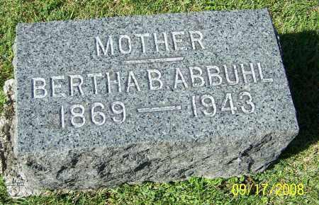 ABBUHL, BERTHA B. - Tuscarawas County, Ohio | BERTHA B. ABBUHL - Ohio Gravestone Photos