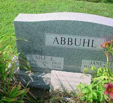 ABBUHL, NILE E - Tuscarawas County, Ohio | NILE E ABBUHL - Ohio Gravestone Photos