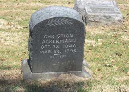 ACKERMANN, CHRISTIAN - Tuscarawas County, Ohio | CHRISTIAN ACKERMANN - Ohio Gravestone Photos